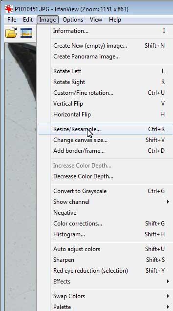 funkce Resize/Resample